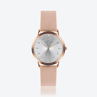 Rose Breithorn Watch w/ Rose Gold Mesh Strap
