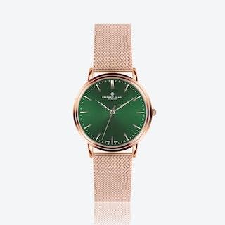 Rose Grunhorn Watch w/ Rose Gold Mesh Strap