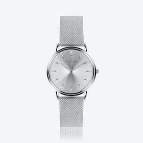 Silver Breithorn Watch w/ Silver Mesh Strap