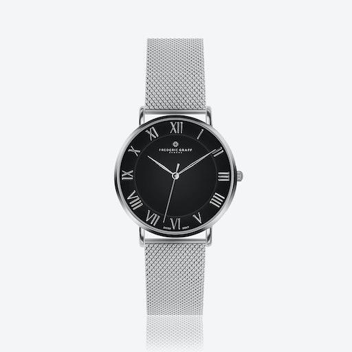 Silver Dom Watch w/ Silver Mesh Strap