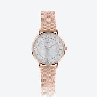 Rose Liskamm Watch w/ Rose Gold Mesh Strap