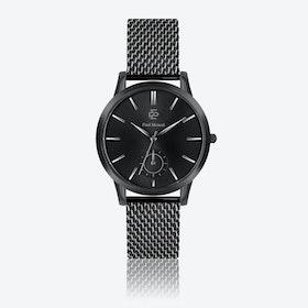 Black Mesh Watch w/ Matte Black Face - Ø 42 mm