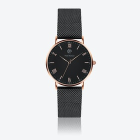 Matte Black Mesh Watch w/ Matte Black Face - Ø 40 mm