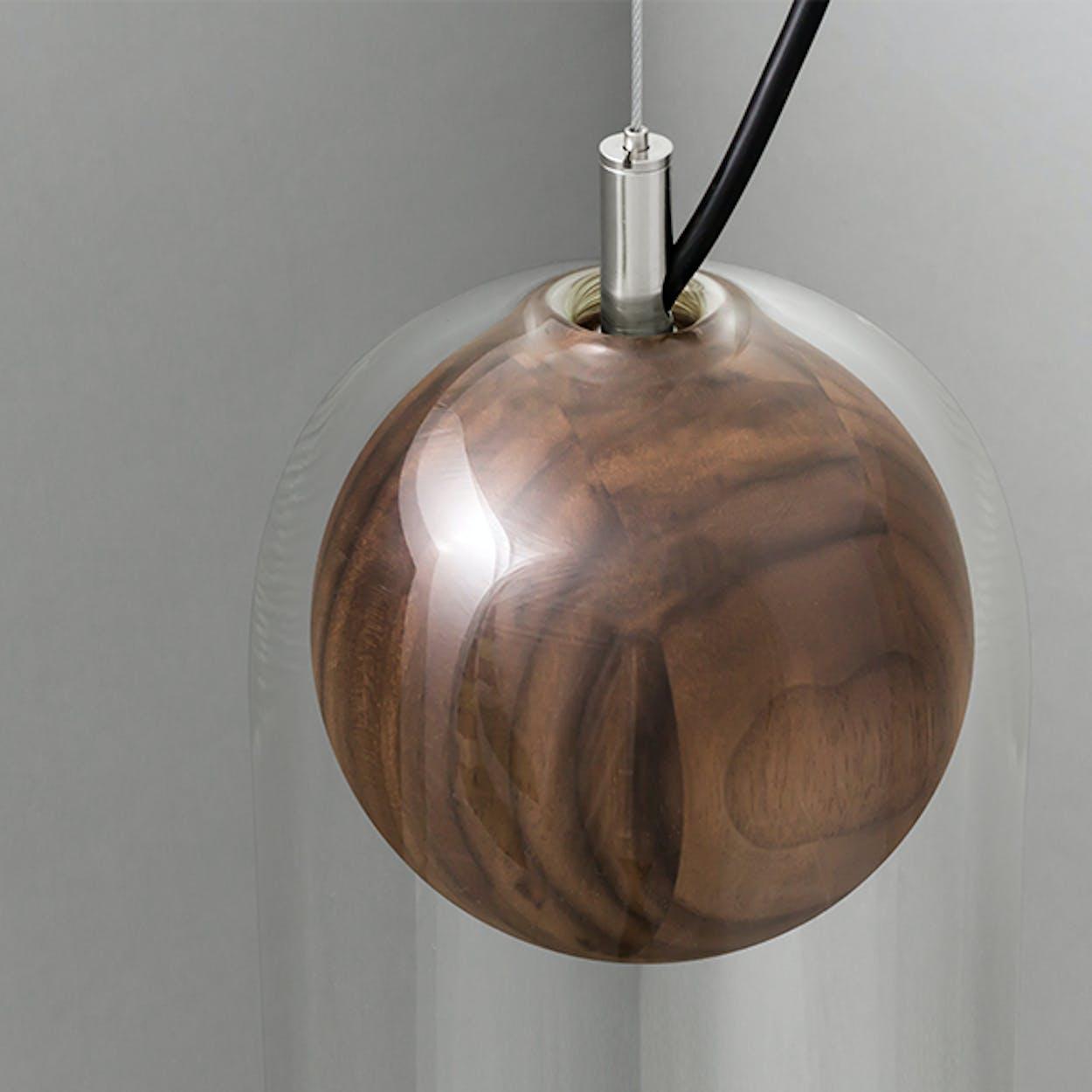 Cloak Pendant Light in Walnut