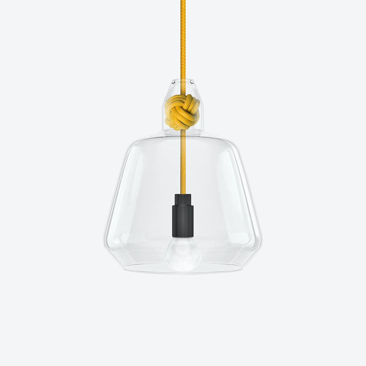 Large Knot Pendant Light in Yellow