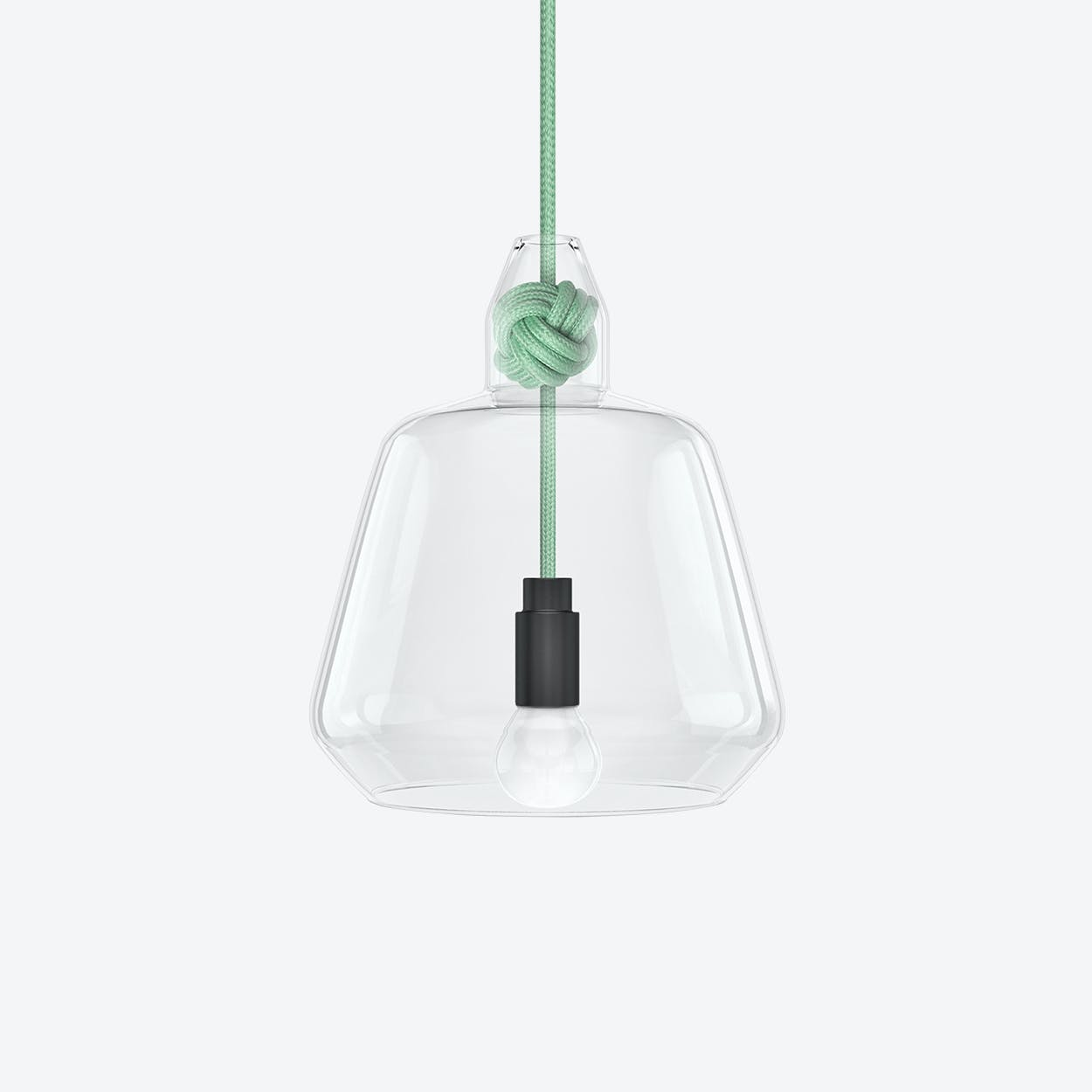Large Knot Pendant Light in Mint