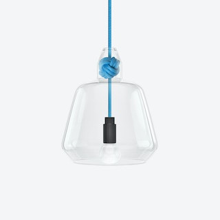 Large Knot Pendant Light in Blue