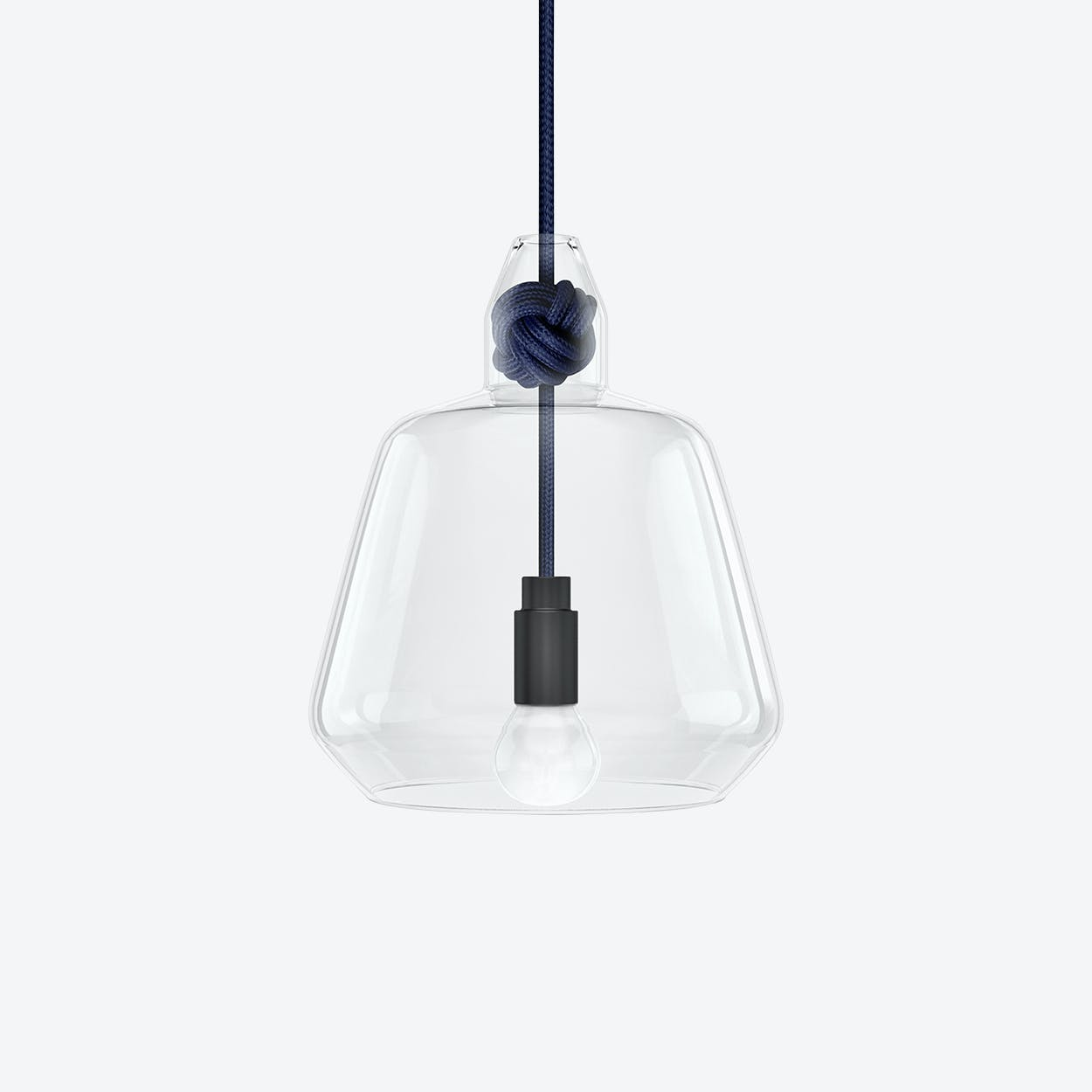 Large Knot Pendant Light in Navy