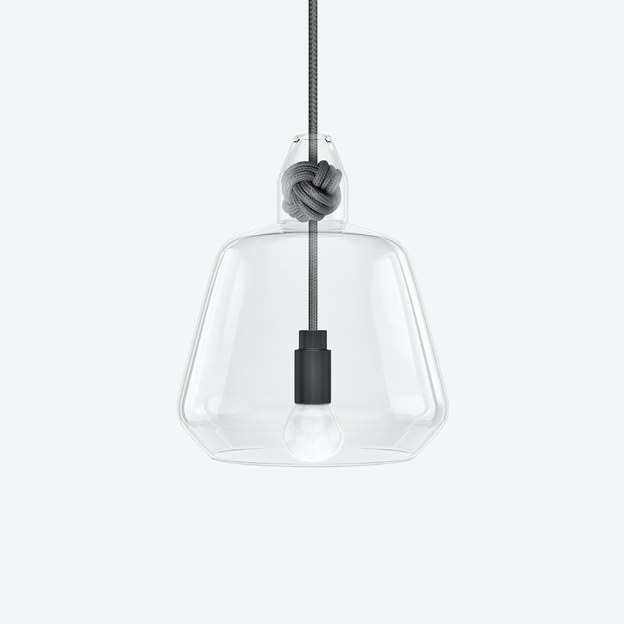 Large Knot Pendant Light in Grey