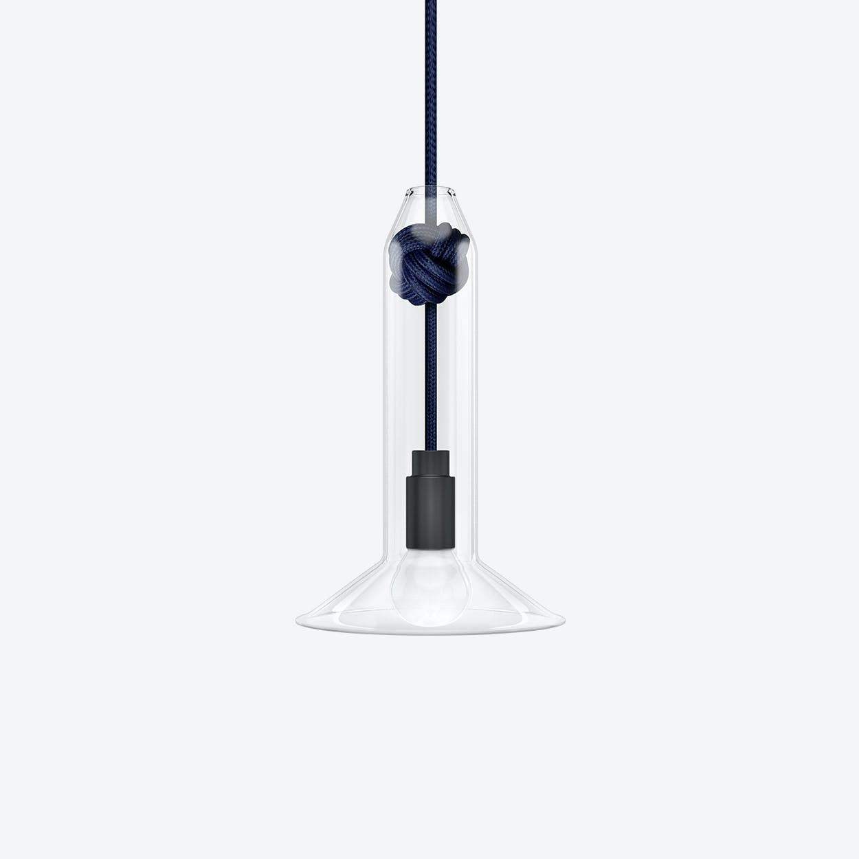 Small Knot Pendant Light in Navy