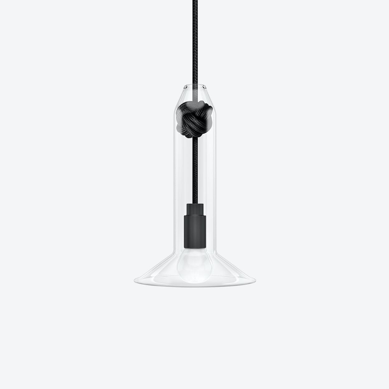 Small Knot Pendant Light in Black