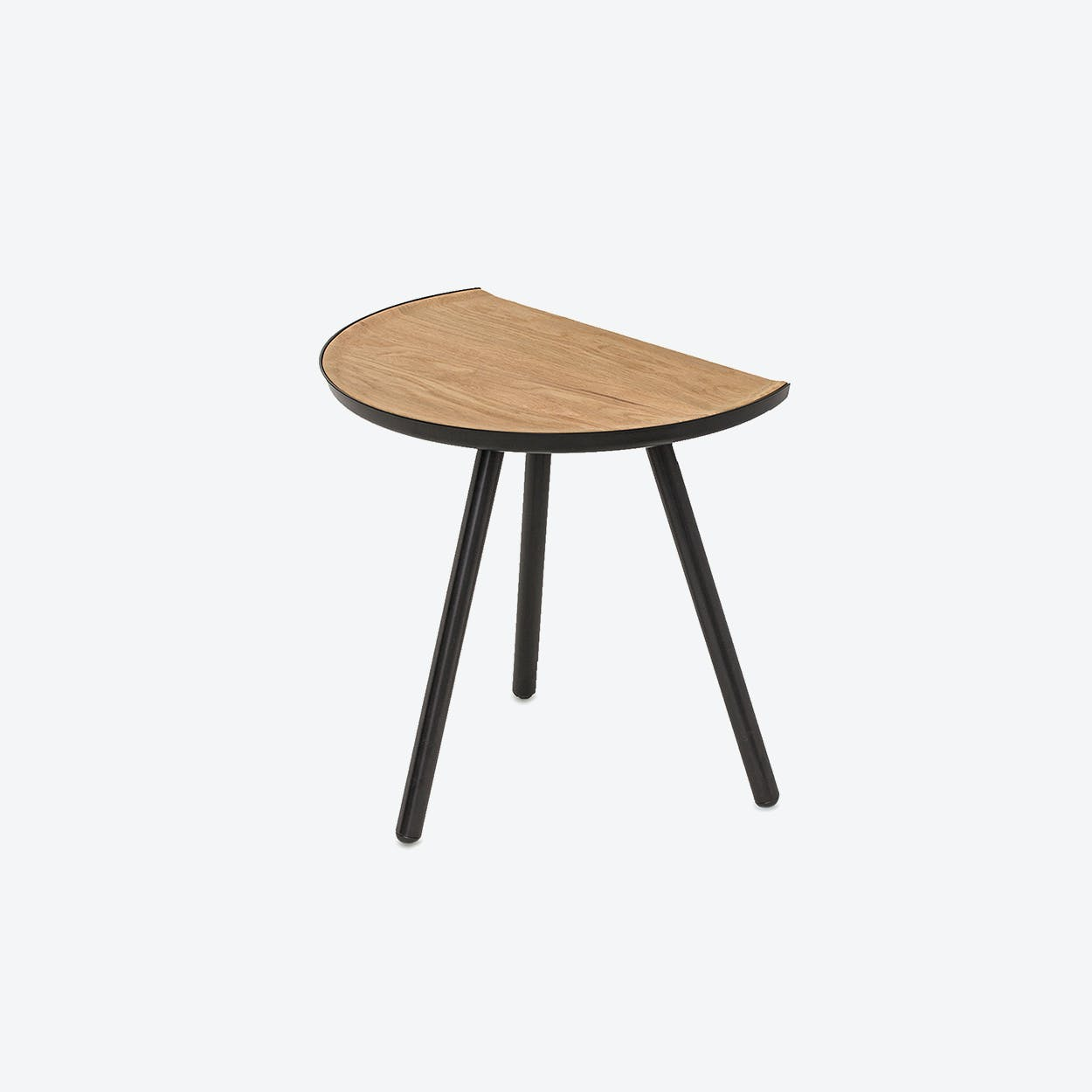 Eclipse Side Table Black with Oak top