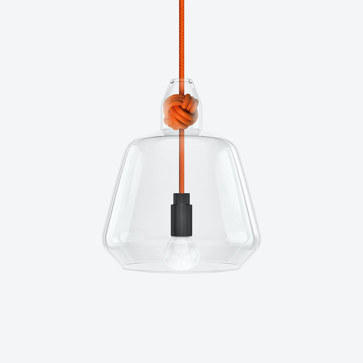 Large Knot Pendant Light in Orange