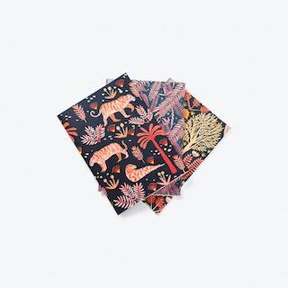 Jungle Print Notebooks A6 - Set of 3