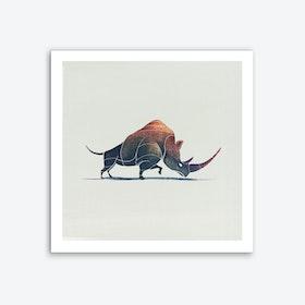 Rhino Art Print I