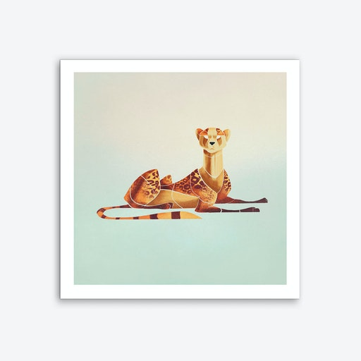 Laying Cheetah Art Print