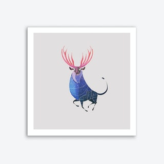 Stag Art Print I