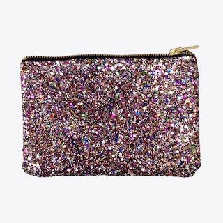 Glitter Zip Pouch Multi Large