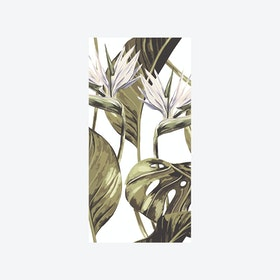 Bird of Paradise (Tropical Leaf) Wallpaper - White
