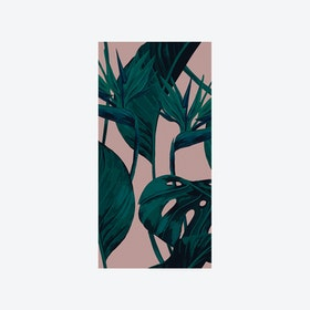 Bird of Paradise (Tropical Leaf) Wallpaper - Blush