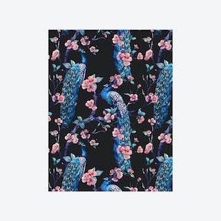 Enchanted Garden (Jungle Bird I) Wallpaper - Dark