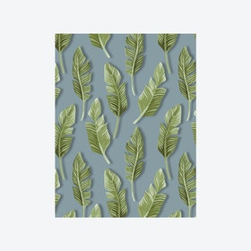 Jungle Breeze (Jungle Leaf) Wallpaper - Grey