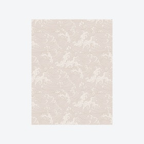 Ocean Spray (Japanese Wave) Wallpaper - Blush
