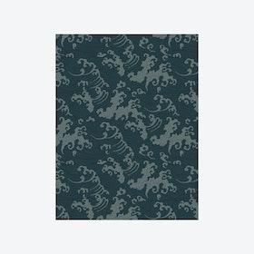 Ocean Spray (Japanese Wave) Wallpaper - Dark