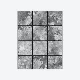 Heavy Metal (Industrial Tile) Wallpaper - Monochrome