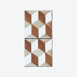 Lisbon (Portuguese Tile) Wallpaper - Honey