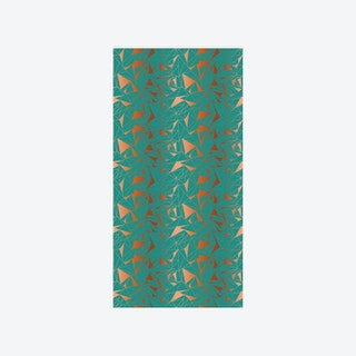 Crystallise Wallpaper - Oxidised Copper