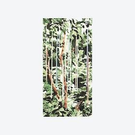 Raindrops Wallpaper - Vintage Green