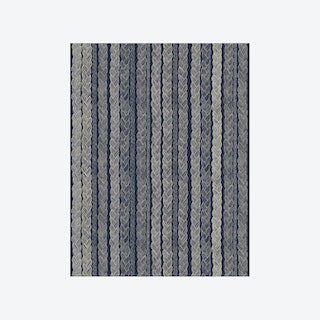 Palmikko Wallpaper - Navy Blue
