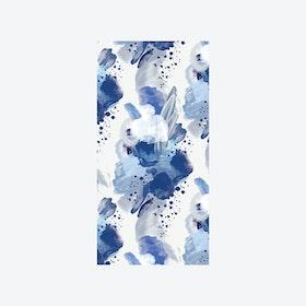 English Rose Wallpaper - Blue