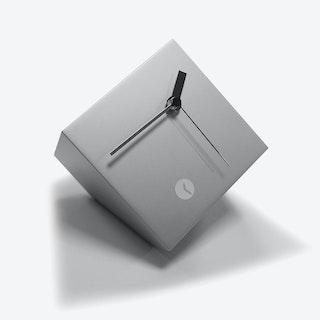 Silver Box Clock