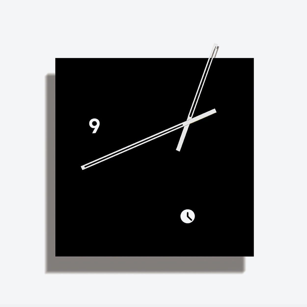 Black Area Clock