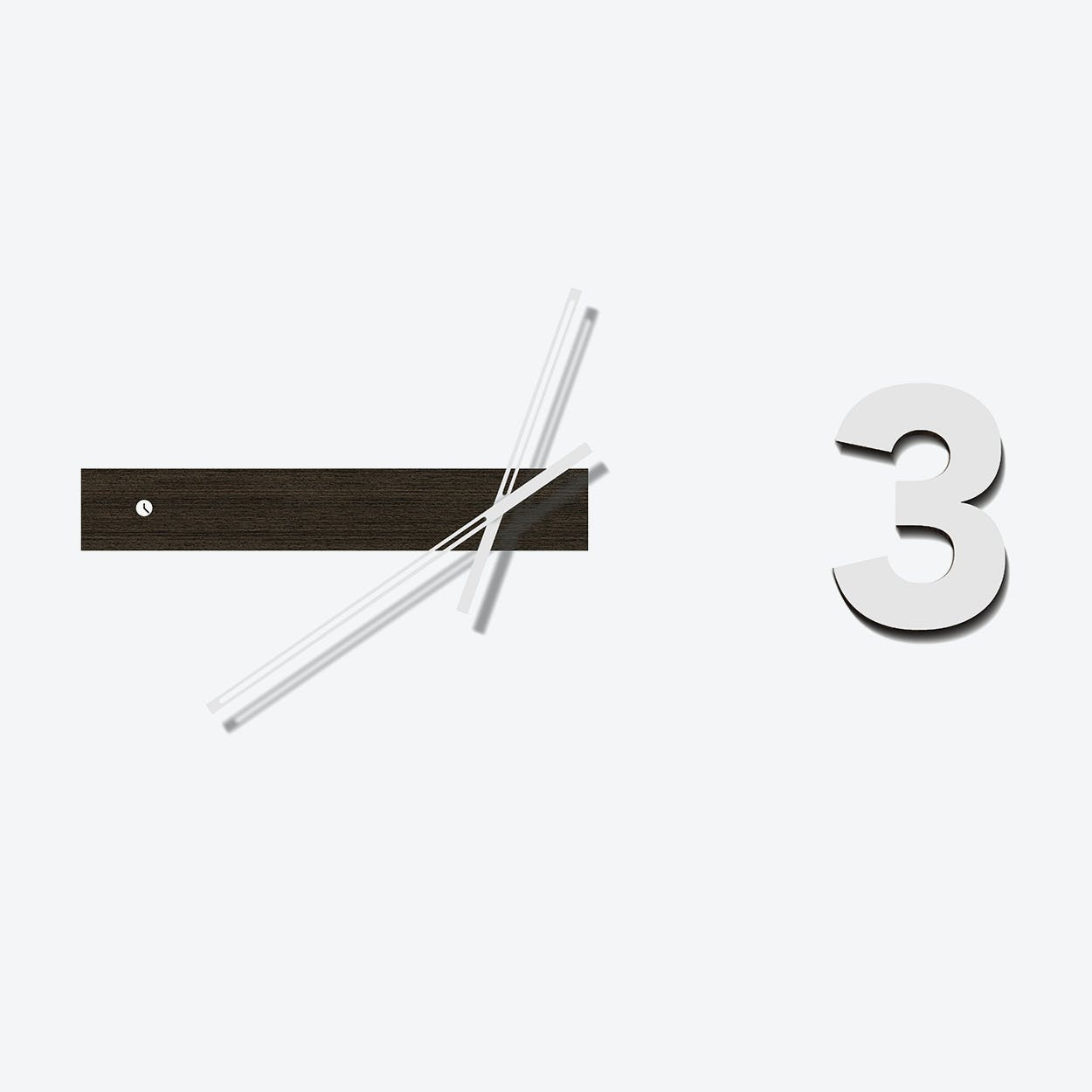 Wenge Track Three Clock