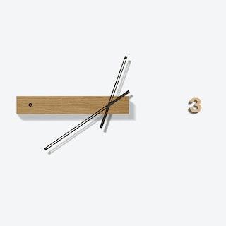 Oak Track Clock