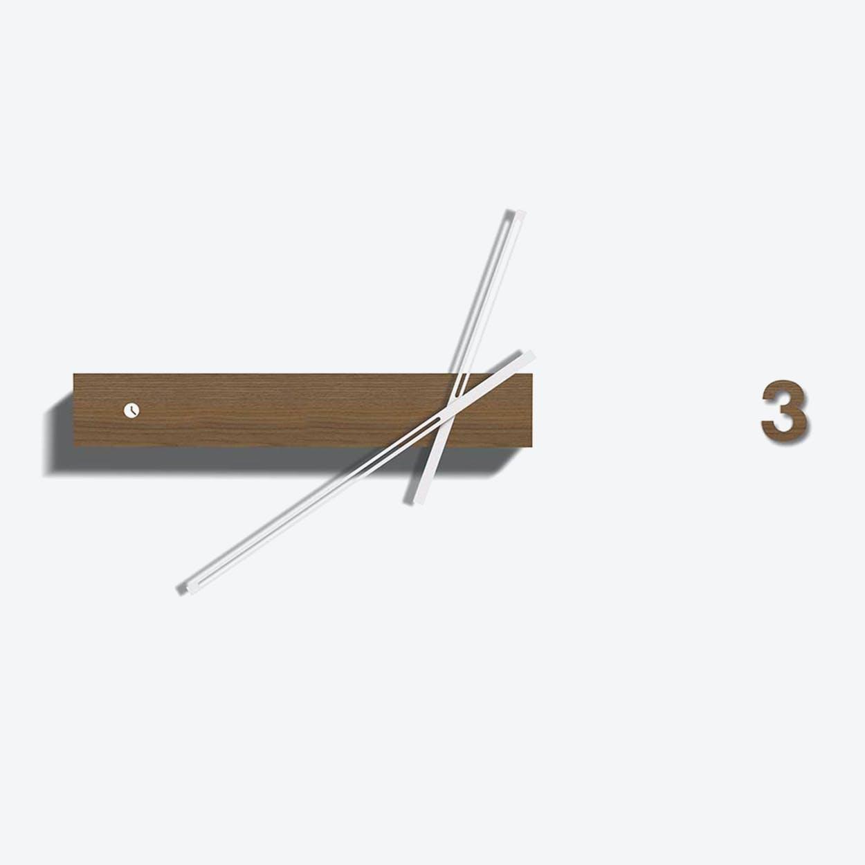 Walnut Track Clock