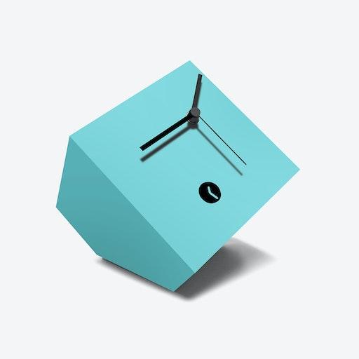 Light Blue Box Clock