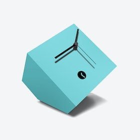 Light Blue Box Clock