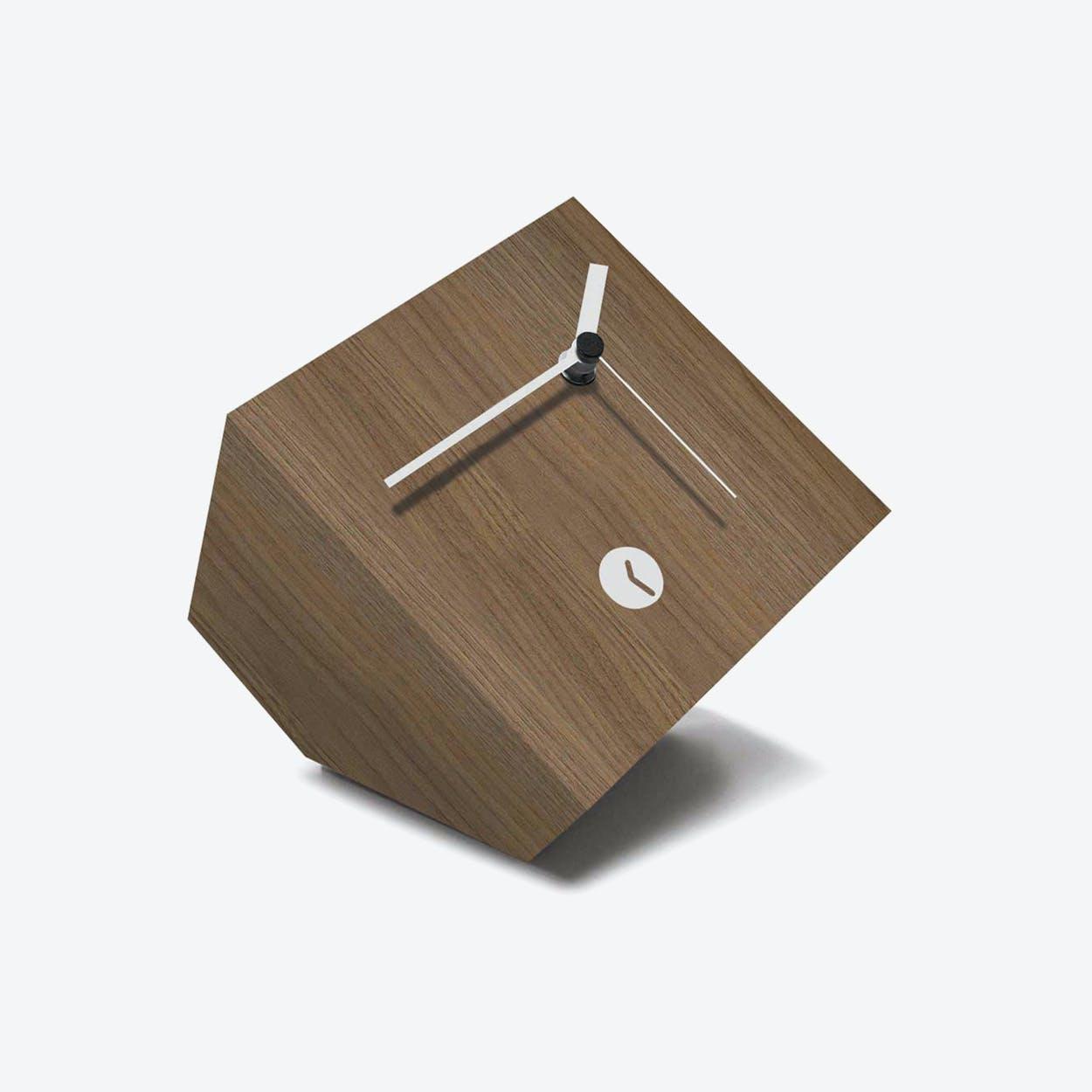 Walnut Box Clock