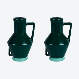Small Dark Green Vase (set of 2)