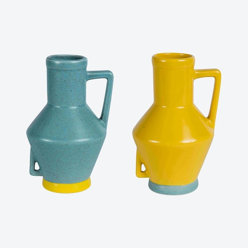 Small Light Blue Vase & Small Yellow Vase (set of 2)