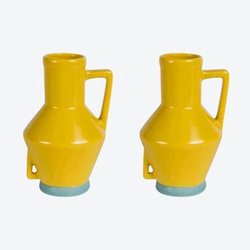 Small Yellow Vase (set of 2)
