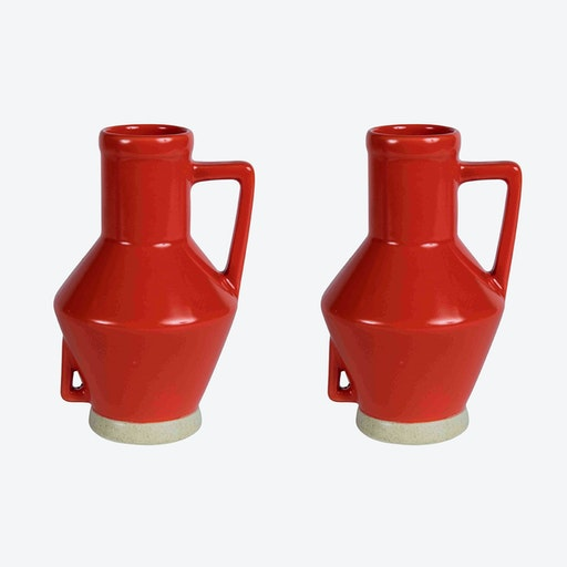Small Red Vase (set of 2)