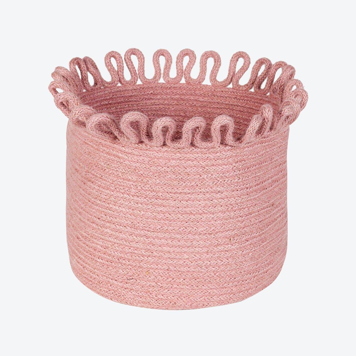 Rose Pink Omala Storage Basket