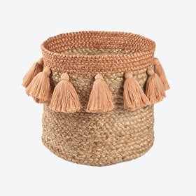 Caramel Aslesha Storage Basket