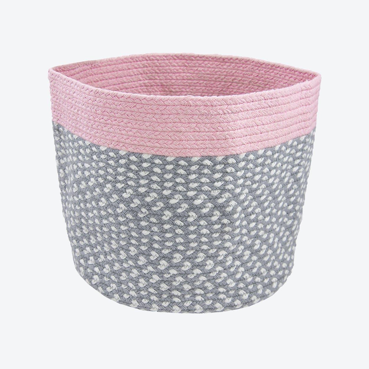 Rose Pink Brenda Storage Basket