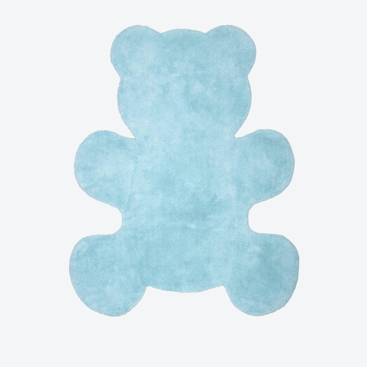 Blue Little Teddy Rug